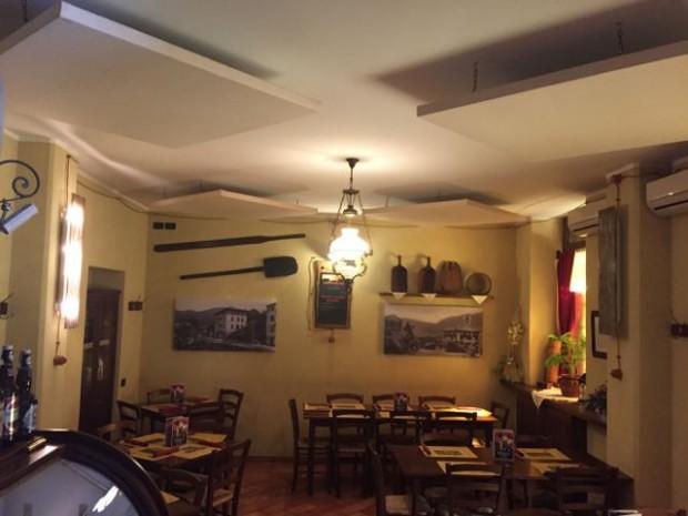 Pizzeria Ecco - Pannelli fonoassorbenti con stampa Oudimmo